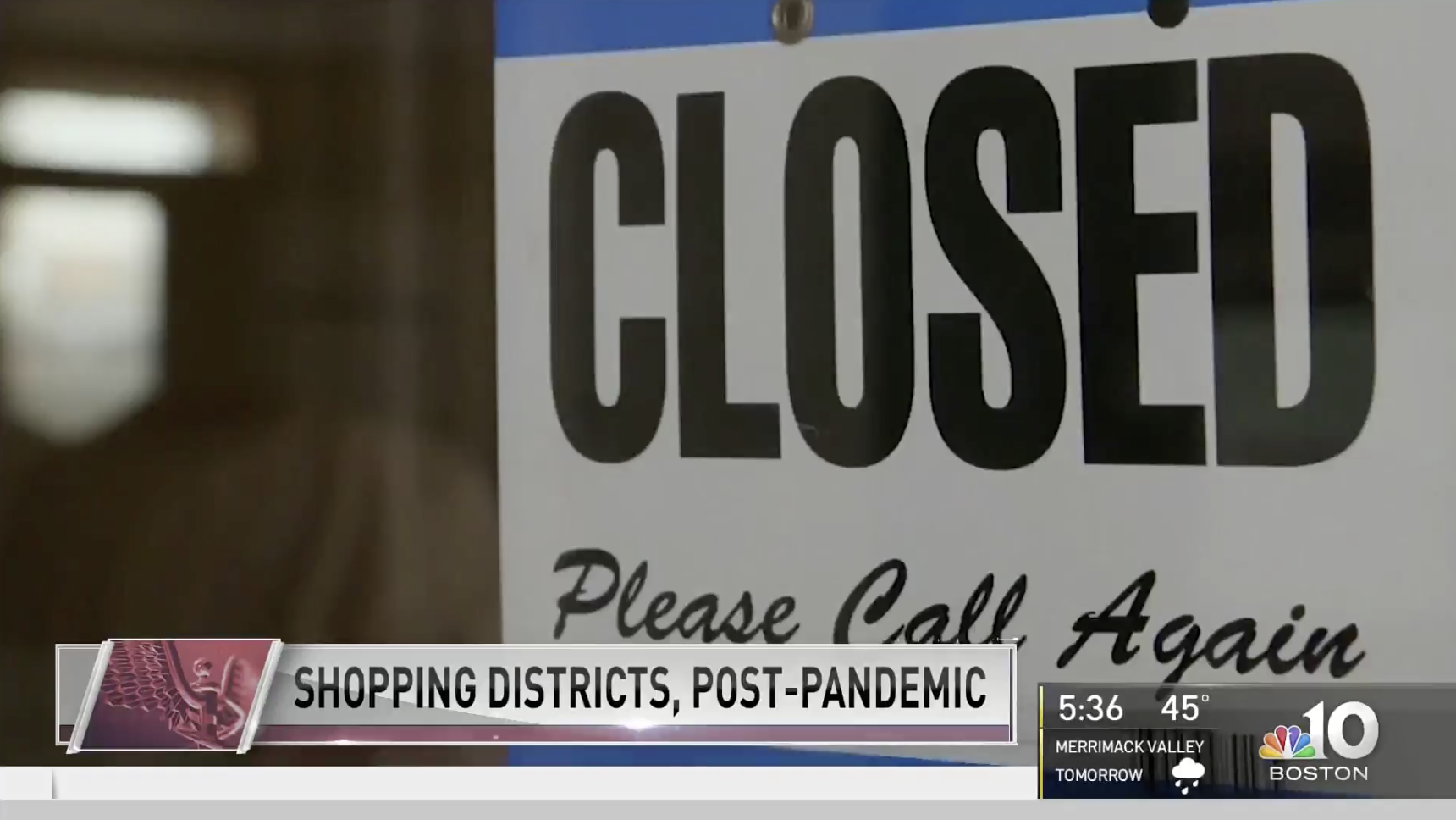 NBC Boston - Post Pandemic Business