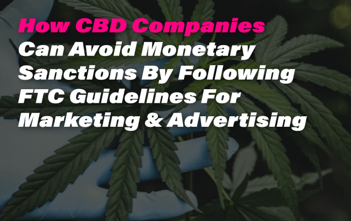 CBD Marketing Advertising Guidelines